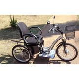 Triciclo Elétrico Deluxe Cadeira Almofadada 350 Watts 12 Ah
