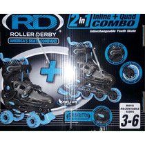 Patines 2 En 1 Roller Derby