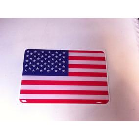 Adesivo Resinado Da Bandeira Dos Estados Unidos9 Cm Por 6 Cm