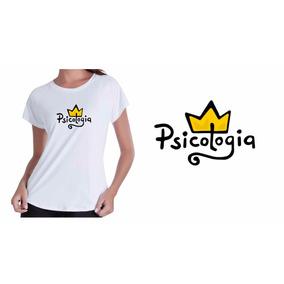 Camiseta Camisa Baby Look Branca Formada Em Psicologia Curso