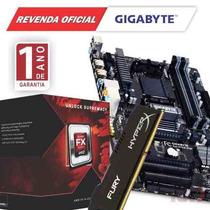 Kit Processador Fx-6300 + Gigabyte Ga-970a-ds3p + 8gb Gamer