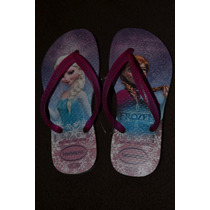 Ojotas Havaianas Frozen Anna Elsa - Original Importadas