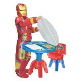 Mesa Para Estudo Infantil Vingadores Avengers Marvel Lider