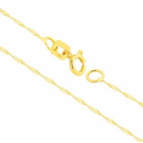Corrente Cordão Colar De Ouro 18k Feminina Singapura 60cm