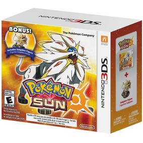 Pokemon Sun + Figura Solgaleo Mídia Física Lacrado 3ds