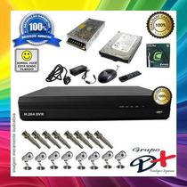Kit Seguranca 8 Cmeras Sharp Ou Sony Dvr Stand Alone