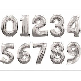 Globos Metalizados Numero De 14 Pulgadas