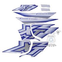 Jogo Adesivos Faixa Completa Xt 600 2000 A 2002 Azul Decal
