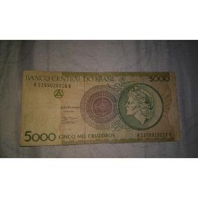 Nota Antiga De 5000 Mil Cruzeiros