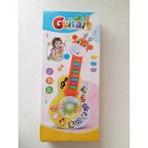 Guitarra Girafa Eletrônica Brinquedo Educativa Luz Música