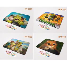 Mouse Pad Shrek Fiona Burro Gato De Botas Pinóquio Mousepad