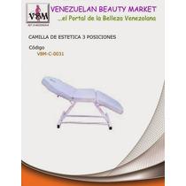 Camilla 3 Tres Posiciones.depilación, Masajes Y Maquillaje