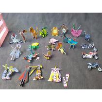 24 Figuras Armables Pokemon,digimon,motos De Sabritas Tazos