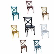 Kit 6 Cadeiras Laqueadas Ou Madeiradas