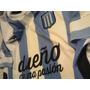 Camiseta Racing Negra S 2014 Blanca Xxxl Campeon Retro