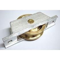 Roldana De Latão Para Portão De Alumínio 70mm