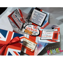 30 Invitaciones Caja Xv Fiesta Tematica Inglaterra London
