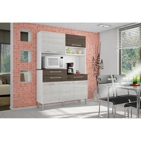 Cozinha Compacta Orion - Branco Rovere - Kits Paraná