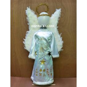 Disfraz De Angel Tallas 2 A 10 Años Alas Pastorelas Navidad