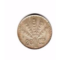 Moneda Uruguay 20 Centesimos De Plata 1942 Km#29