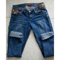 Precioso Jeans Con Detalles Animal Print