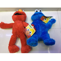 Peluches De Plaza Sésamo Come Galletas ,elmo Son 100% Nuevos