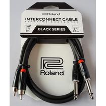 Cable Roland Rca X2 1/4 X 2 Mono Plug 1.5 Mt
