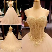 Vestido Noiva Importado Lindo Luxo Frete Grátis Wd26