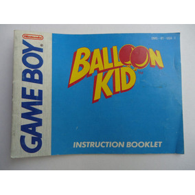 Manual Instructivo Balloon Kid De Gameboy Gb Folleto