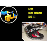 Casco Cross Rotulado Edge 13