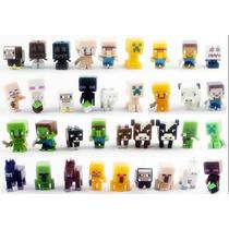 Genial Colección S2 De 36 Minifiguras De Minecraft 2 A 3 Cm