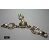 Piercing Aplique Fivela Chinelo Strass - Ral1618 - 1 Par