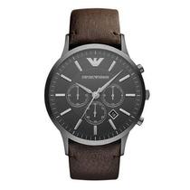 Relógio Emporio Armani Ar2462 Couro Marrom Original Top