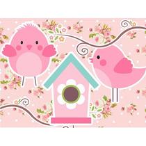 Kit Imprimible Pajaritos Niña Baby Shower Invitaciones 2x1