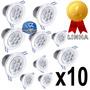 Kit 10 Spot Led 7w Lampada Dicroica Direcionável Sanca Gesso