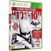 Jogo Batman Arkham City Goty Xbox 360 Português + Arquelina