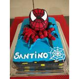 Torta Cumpleaños Fiestas Spiderman Hombre Araña 3d