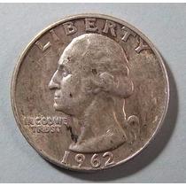 Estados Unidos 25 Cent 1962 D Plata 900 Excelente Km 164