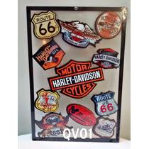 Quadro Vazado Decorar Bar Garagem Sala Mdf Rota 66 Harley