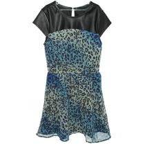 Vestido Estamapa Onça Blue