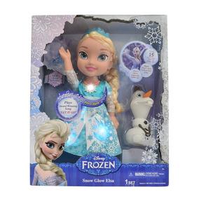 Boneca Frozen - Princesa Elsa Cantora Neve Brilhante Luxo