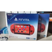 New Consola Ps Vita Wifi Slim Roja Metalica Envío Bitcomtz*