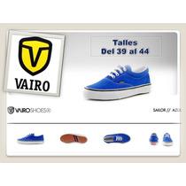 Zapatillas Vairo Mod. Sailor Azul Francia Zona Munro