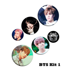 Kit C/6 Buttons Bottons K-pop Bts Bangtan Boys Personalizado