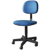 Cadeira Giratória De Escritório Azul - Poltronas Paraná