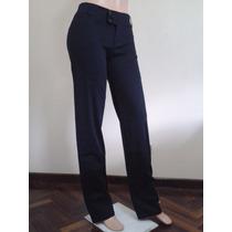 Pantalón Escolar Azul Marino Dama Drill (stretch)