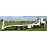 Prancha Hidráulica Para Maquinas Sobre Caminhão Truck