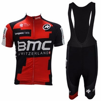 Uniforme Ciclismo Bmc 2017 Jersey + Short Bib, Bici, Ruta