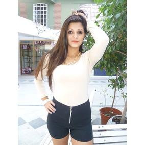 3 Camiseta Basica De Mujer De Modal Con Lycra
