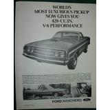 Clipping Publicidad Auto Automoviles Ford Ranchero Importada